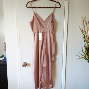 Cotton Candy Dresses - COTTON CANDY LA SATIN DRESS